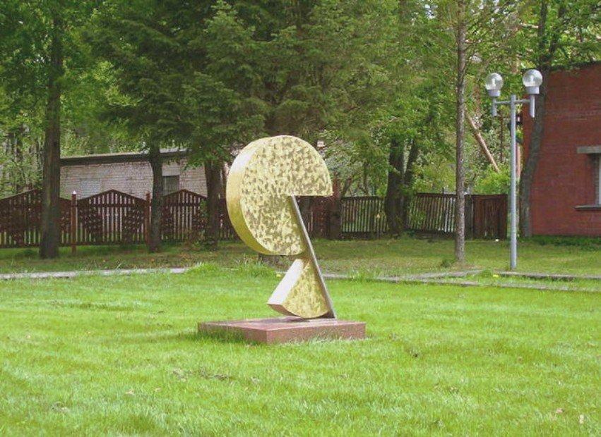 Памятник сыру в Латвии в Прейли