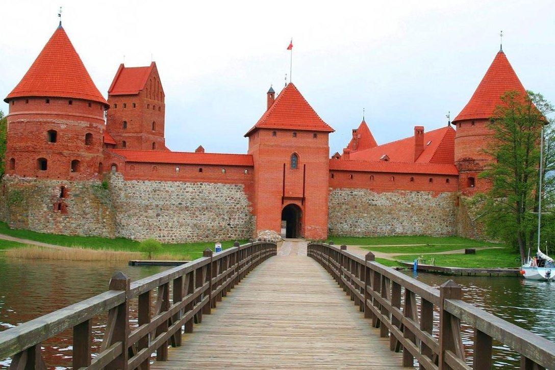 Тракайский замок, в Литве