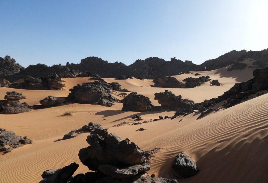 Территория Ливии пустыня