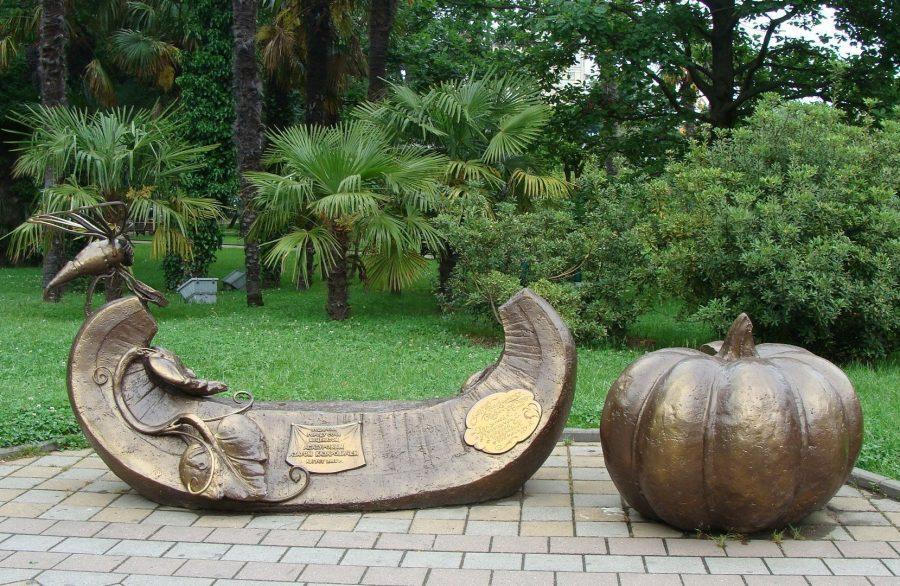 Памятник Тыквенная скамейка