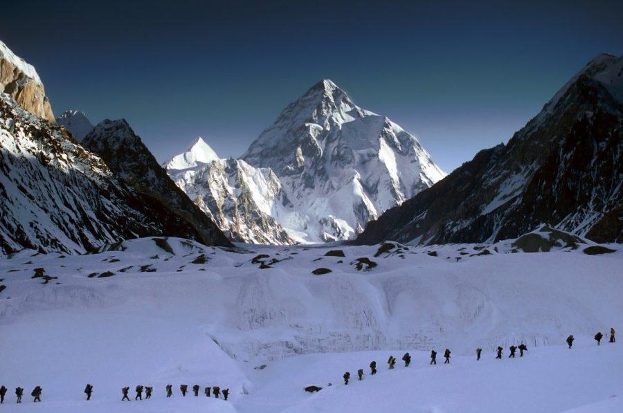 Высокая гора К2 в Пакистане