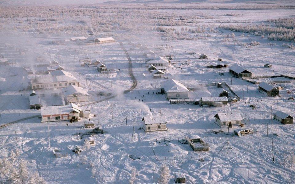 Деревня Оймякон в Якутии