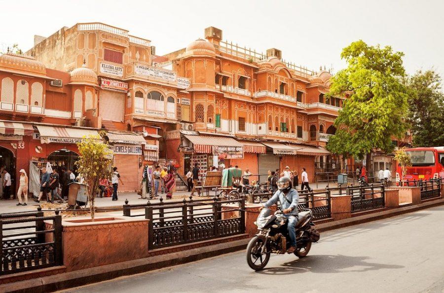 Джайпур город в розовых тонах