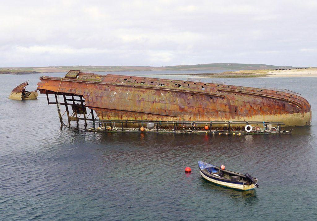 Шотландия затонувший корабль