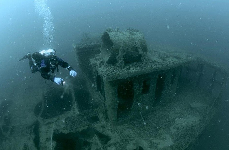 Затонувшие суда у берегов Евпатории