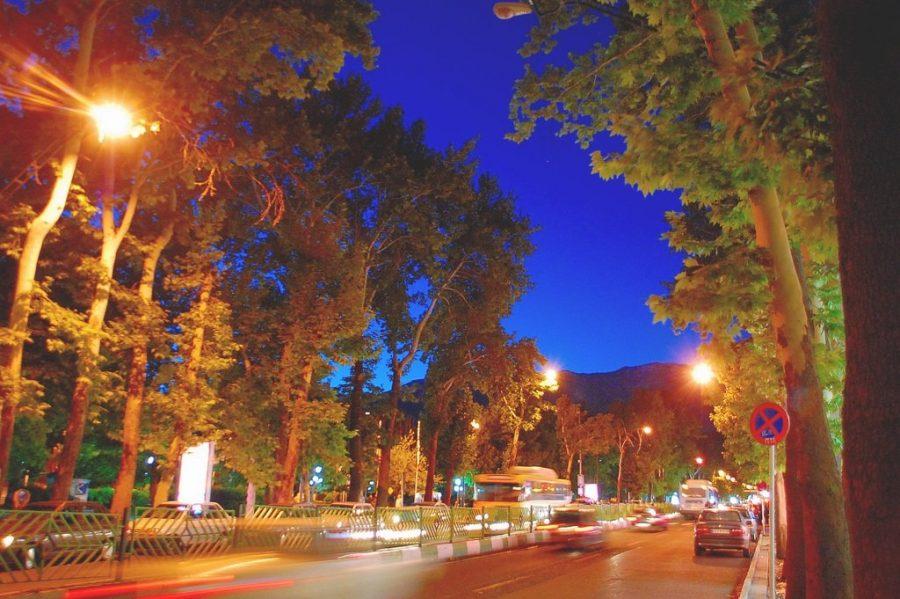 Длинная улица Валиаср в Иране
