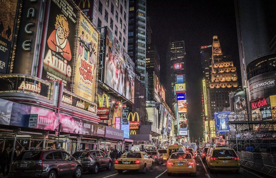 Бродвей длинная улица Манхеттена