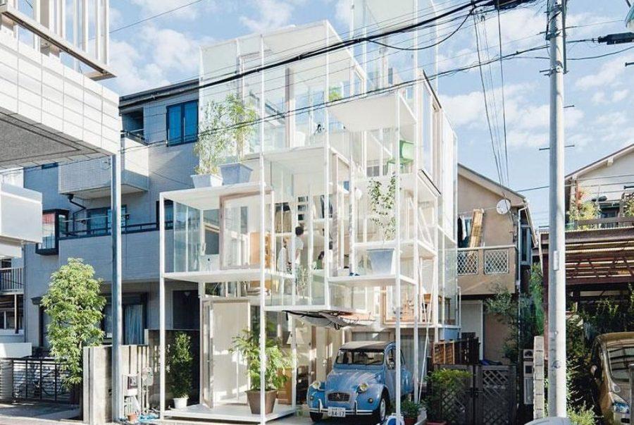 Прозрачный дом в Токио Япония