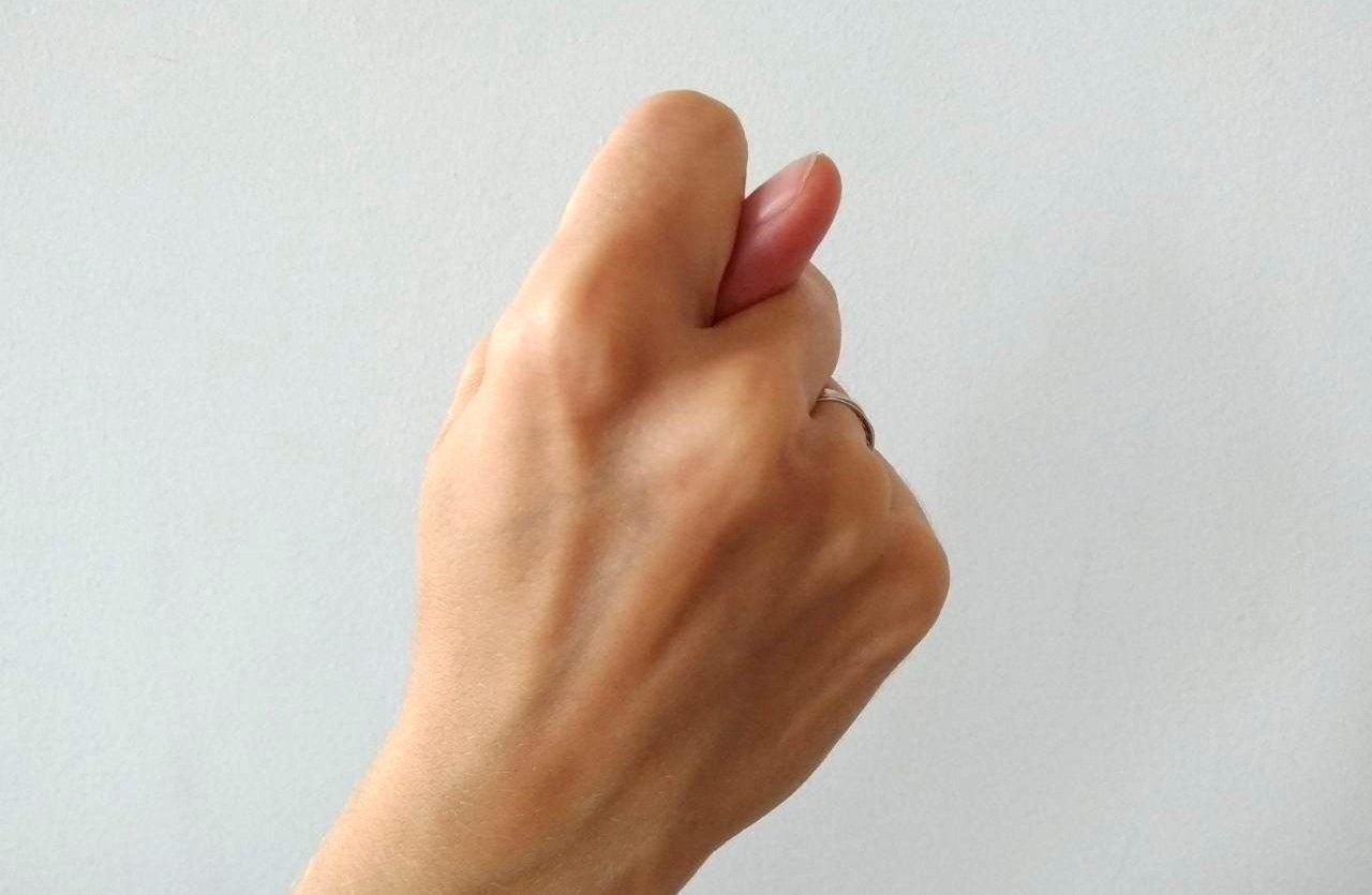 Дуля или фига из пальцев рук