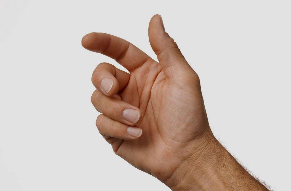 Согнуть указательный палец