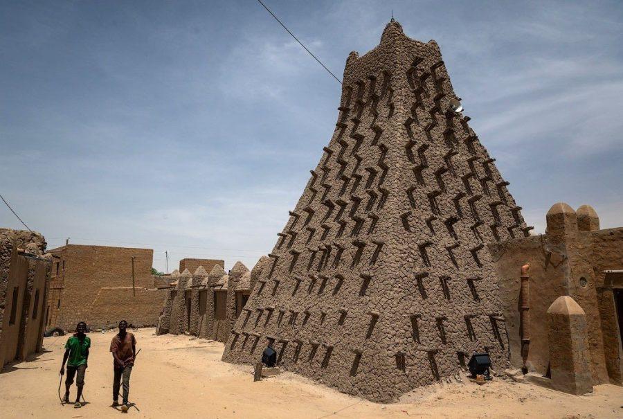 Жаркий город Тимбукту в Мали