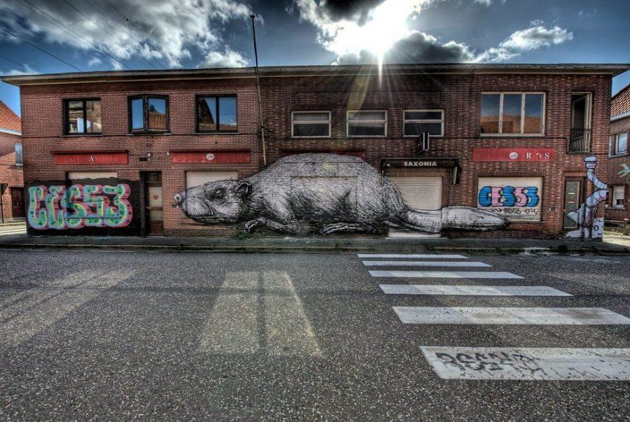 Граффити город Дойл, Бельгия