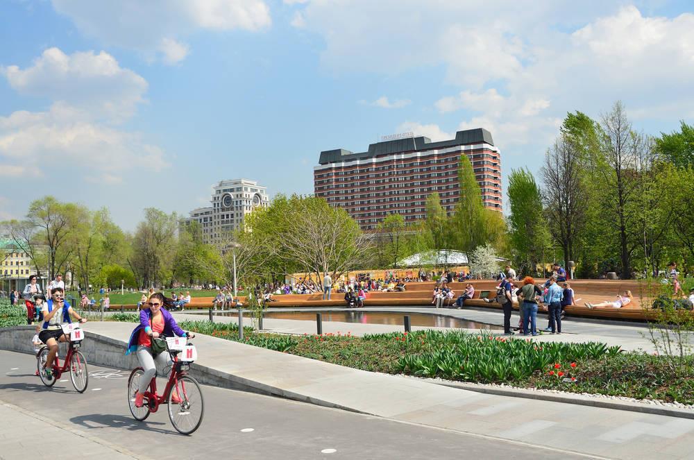 Велодорожки в парке Музеон