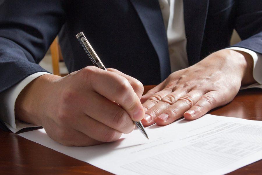В заявлении ставится подпись