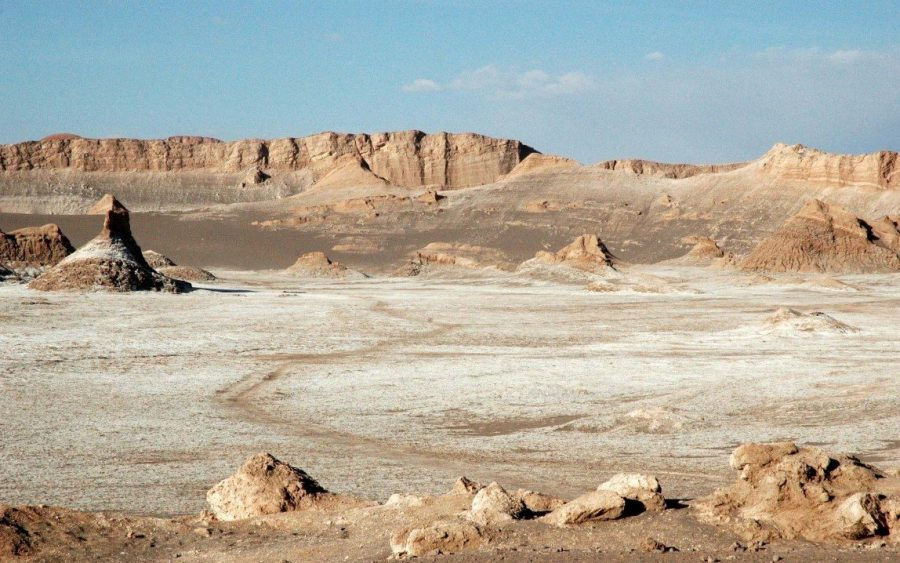 Лунная долина в пустыне Атакама Чили
