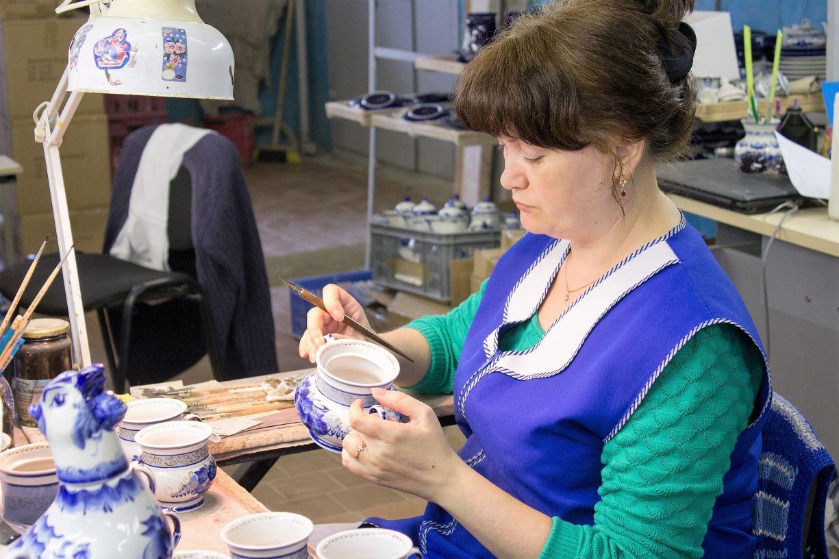 Гжельская посуда завод по изготовлению
