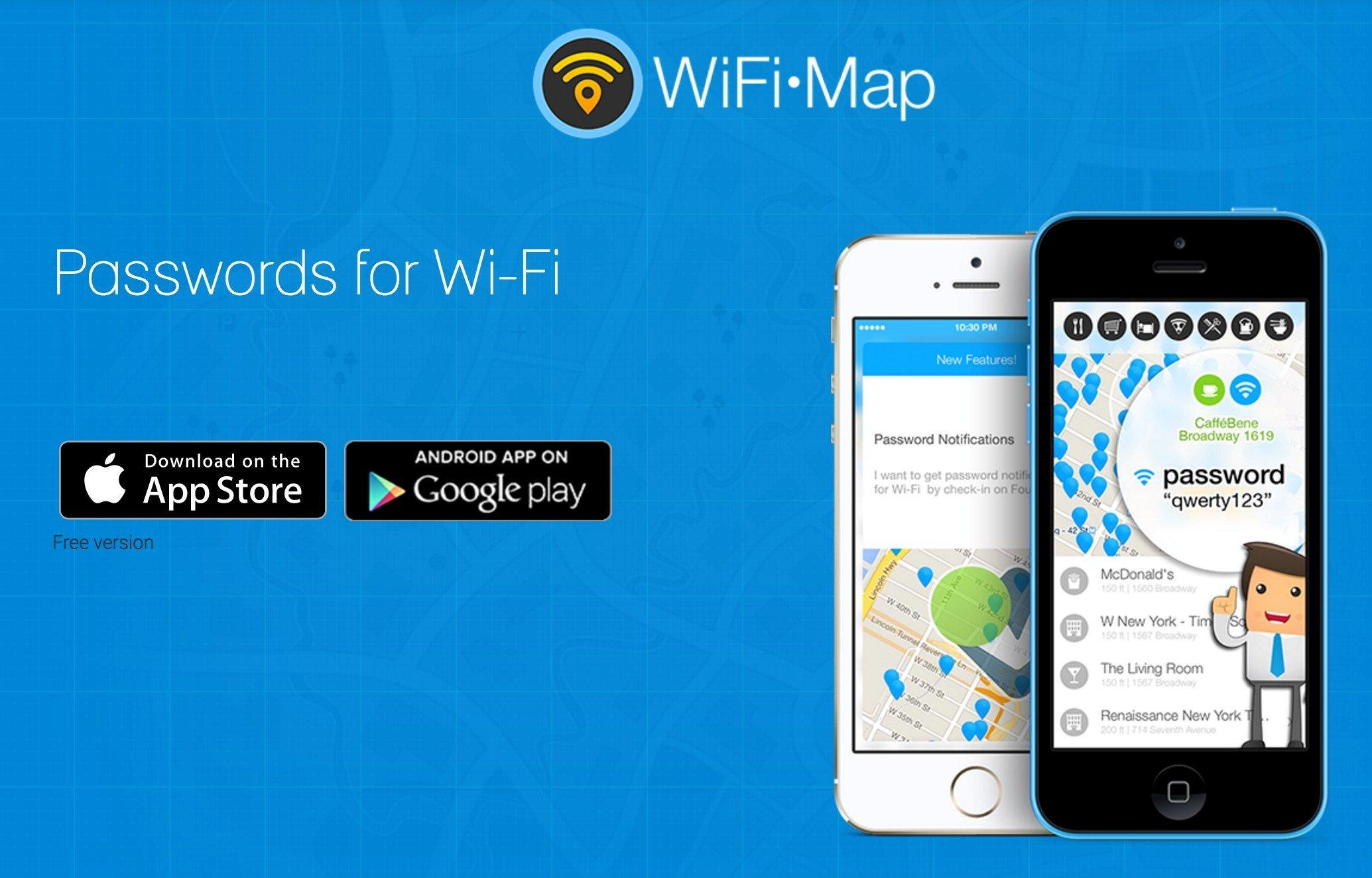 WiFi Map приложение без интернета