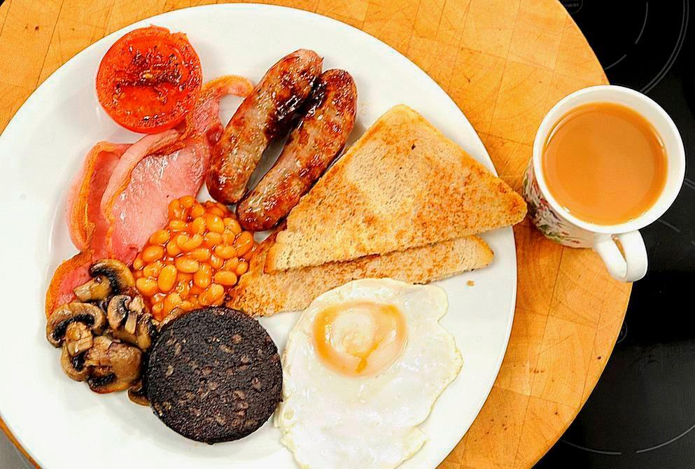 Ирландия завтрак черный пудинг