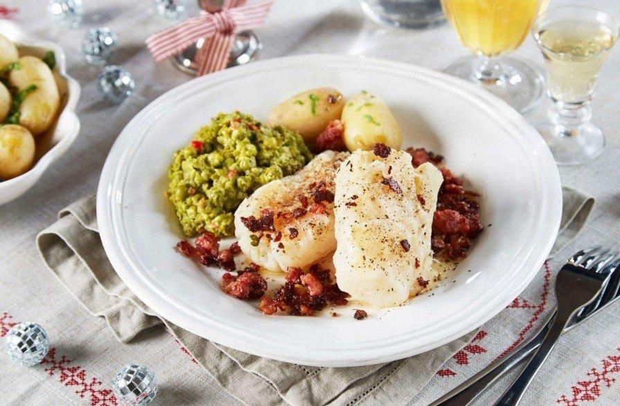 Норвегия завтрак лютефиск