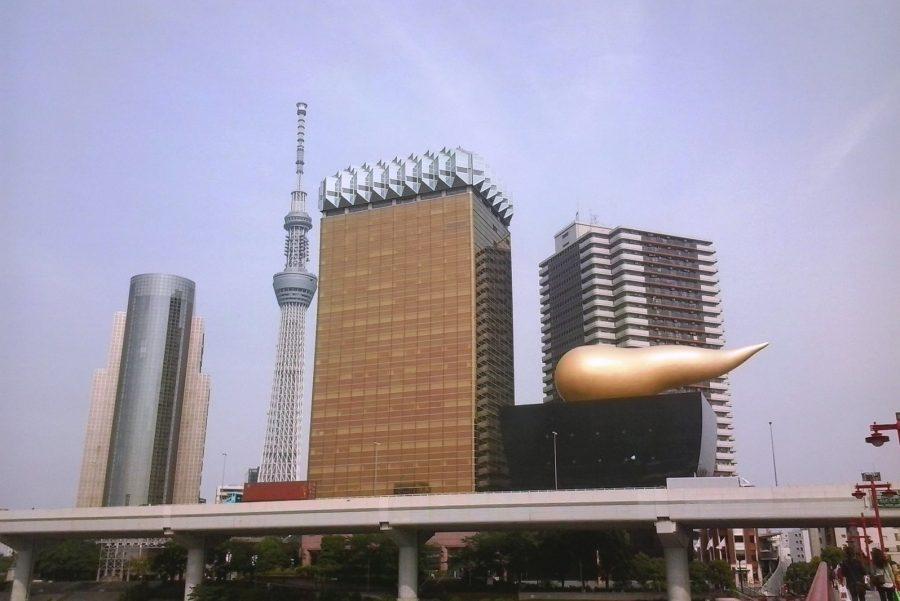 Факел пивной компании «Asahi», Токио