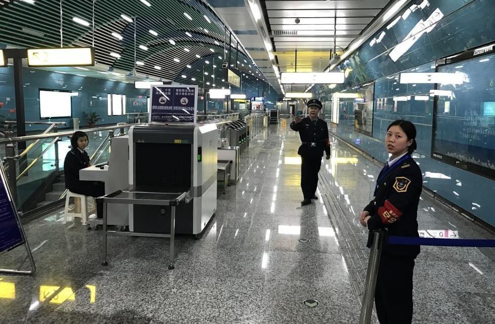 Металлодетекторы в метро Китая