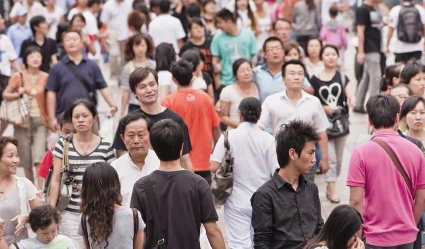Китайцы в общественном месте