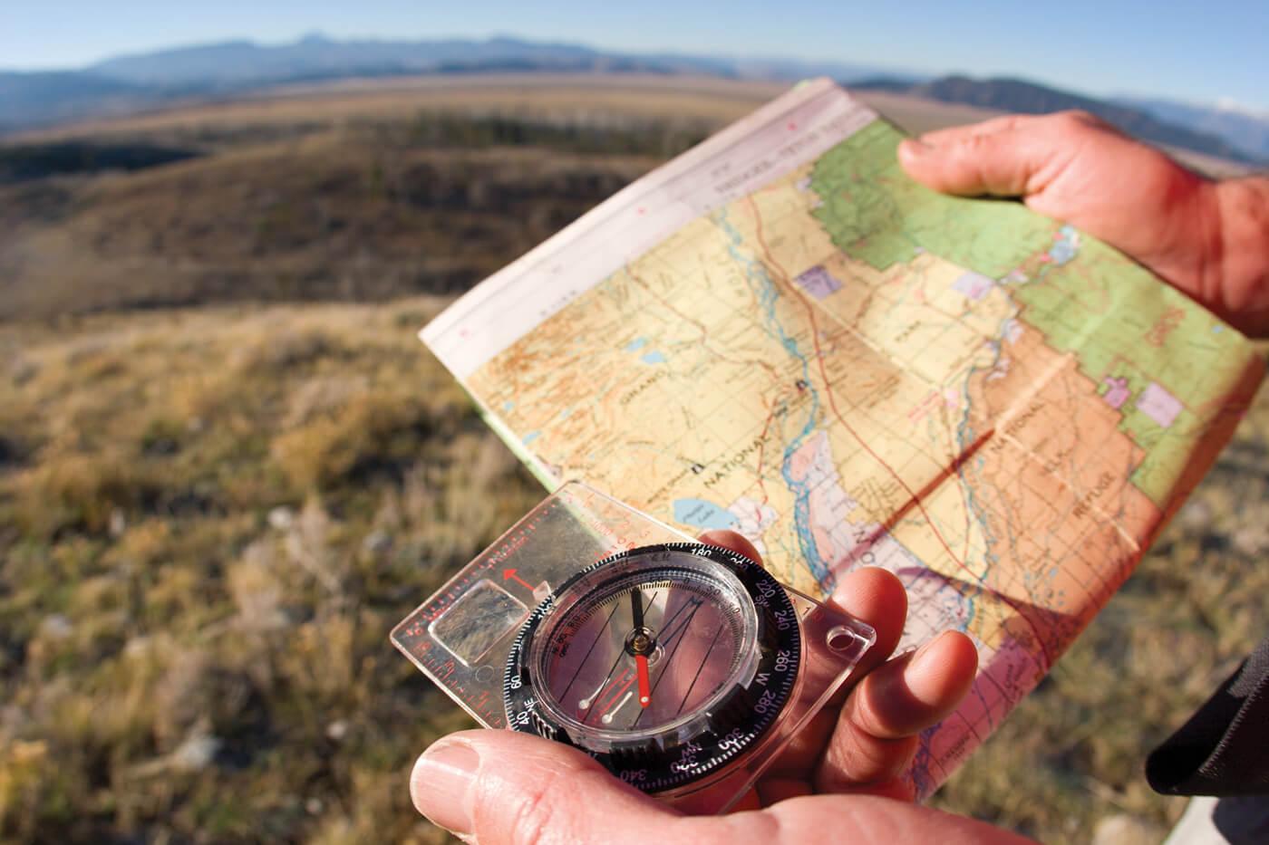 Маршрут похода в горы по карте