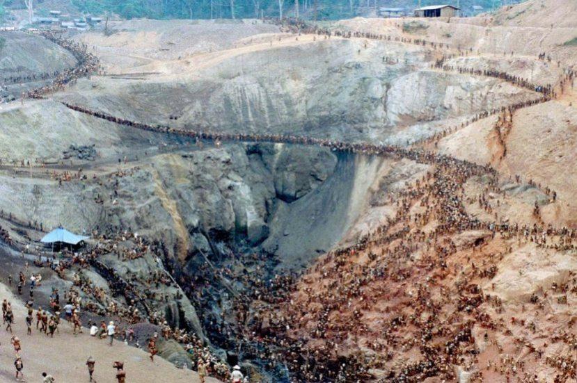 Места золотых приисков в Бразилии