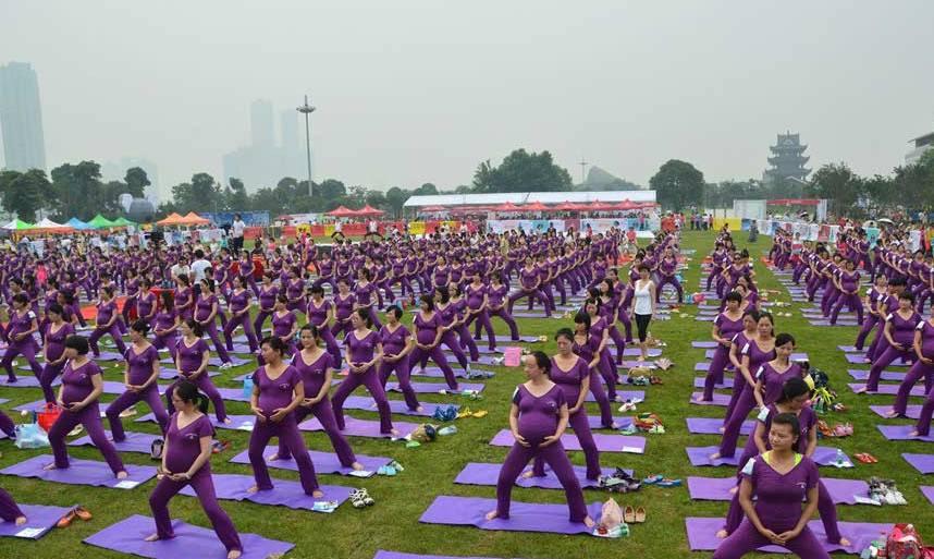 Йога для беременных в Китае