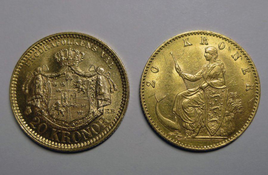 Коронная скандинавская денежка