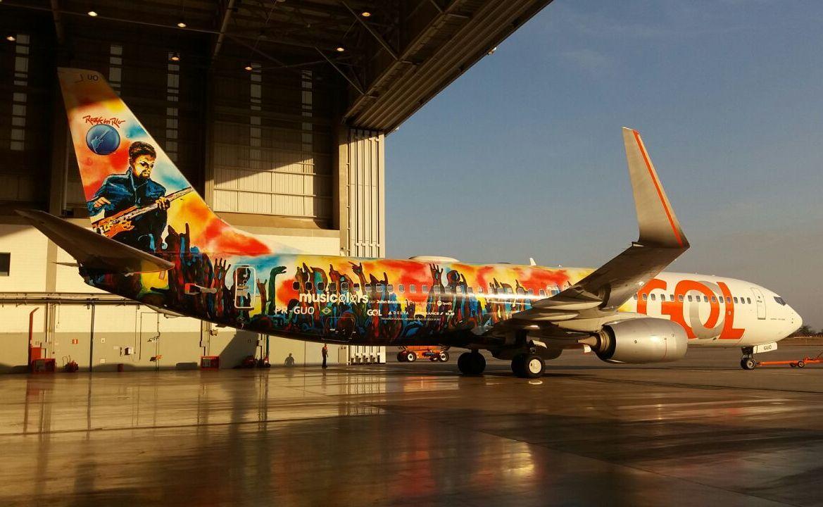 Rock in Rio на самолете Gol Airlines