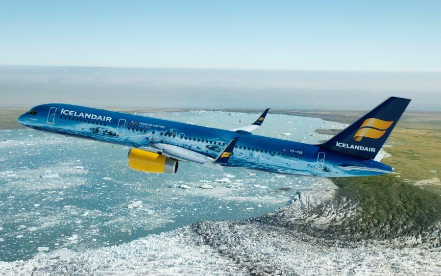 Самолет авиакомпании Icelander Air