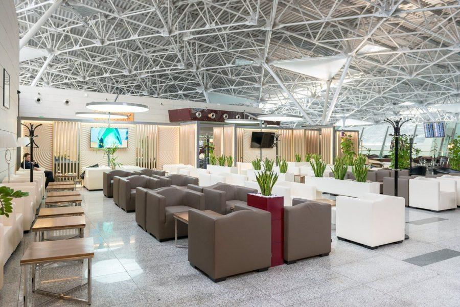 Бизнес-зал в аэропорту по карте