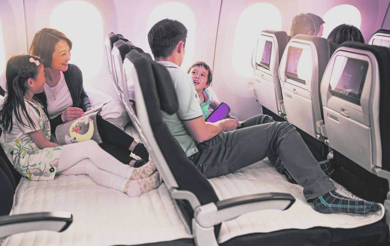 Air New Zealand кресло-диван в самолете