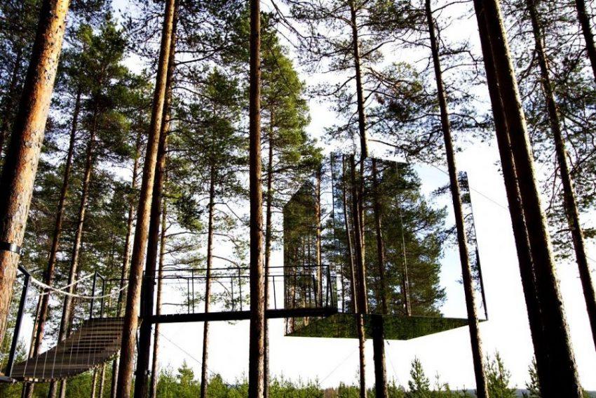 Mirrorcube Tree House Hotel, Швеция