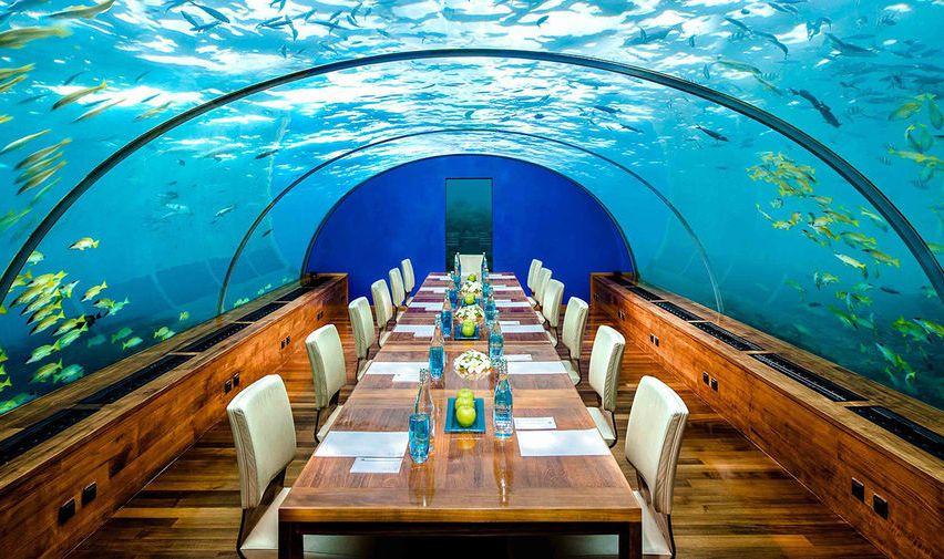 Ithaa Undersea Restaurant, Мальдивы
