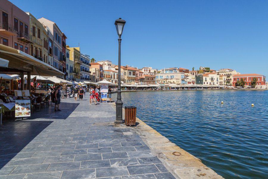 Набережная Ханья на острове Крит