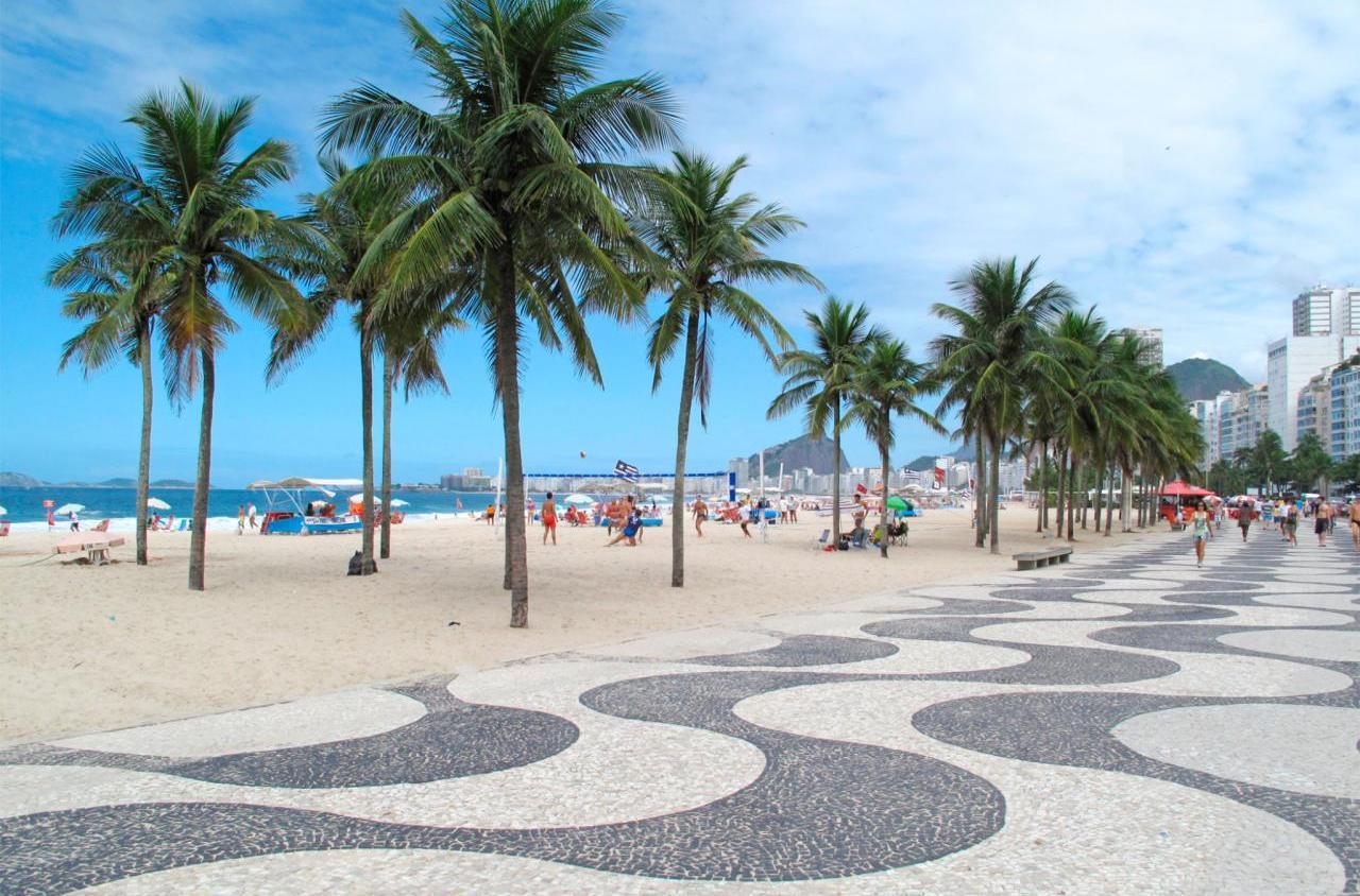 Набережная Копакабана в Бразилии