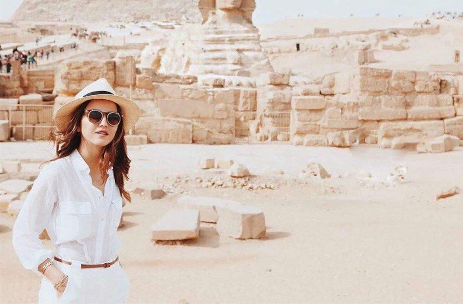 Туристка из России в Египте