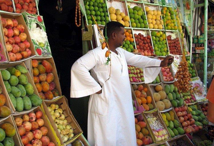 Посетить местный рынок в Египте