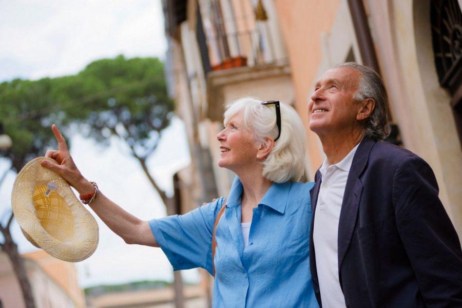 Пенсионеры на отдыхе в Италии