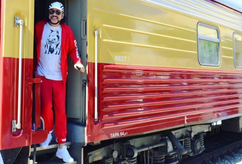 Филипп Киркоров в личном вагоне