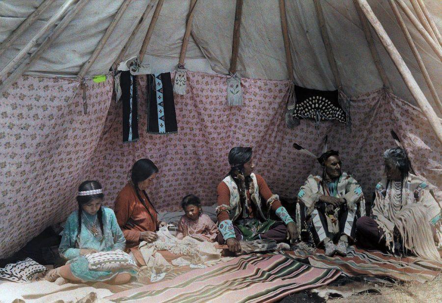 Индейская резервация Кроу в штате Монтана