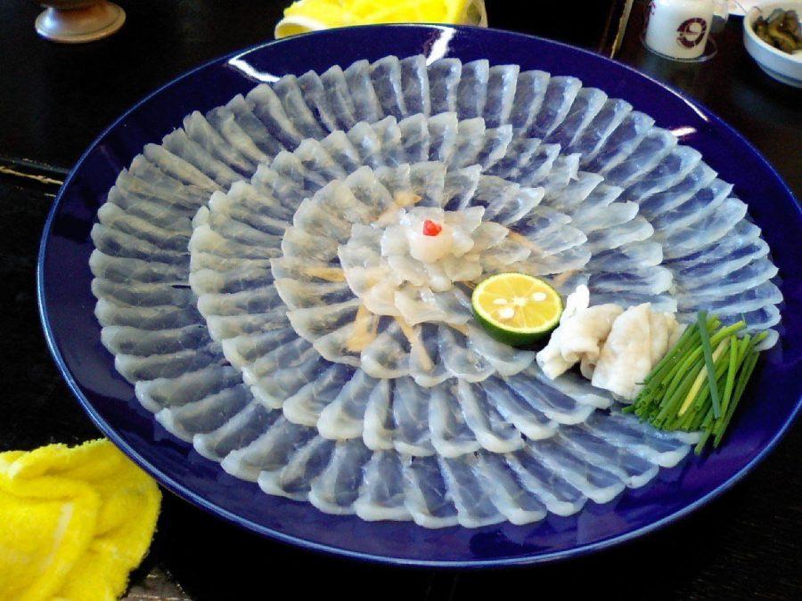 Дорогое блюдо фугу в Японии