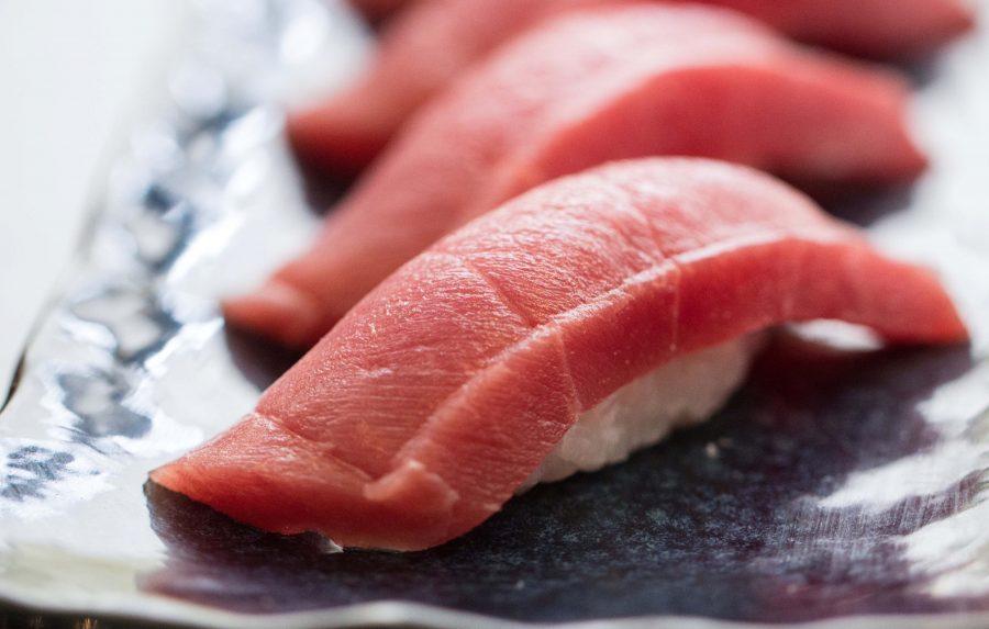 Торо филе голубого тунца в Японии