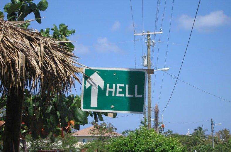 Hell город на Каймановых островах