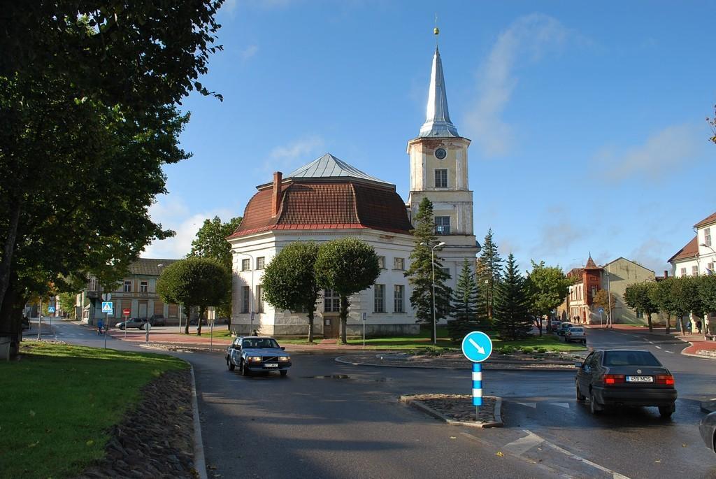 Город Валга между Латвией и Эстонией