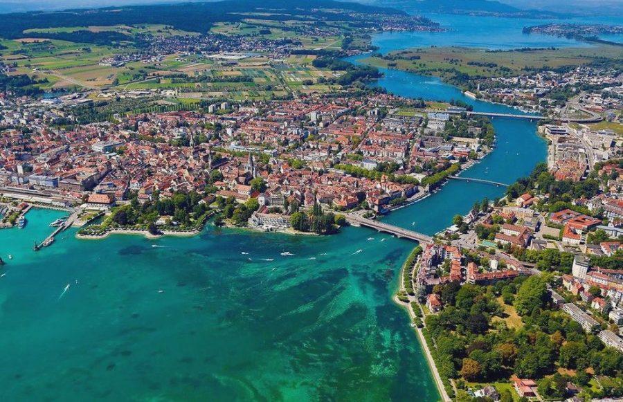 Город Констанц в Германии и Швейцарии