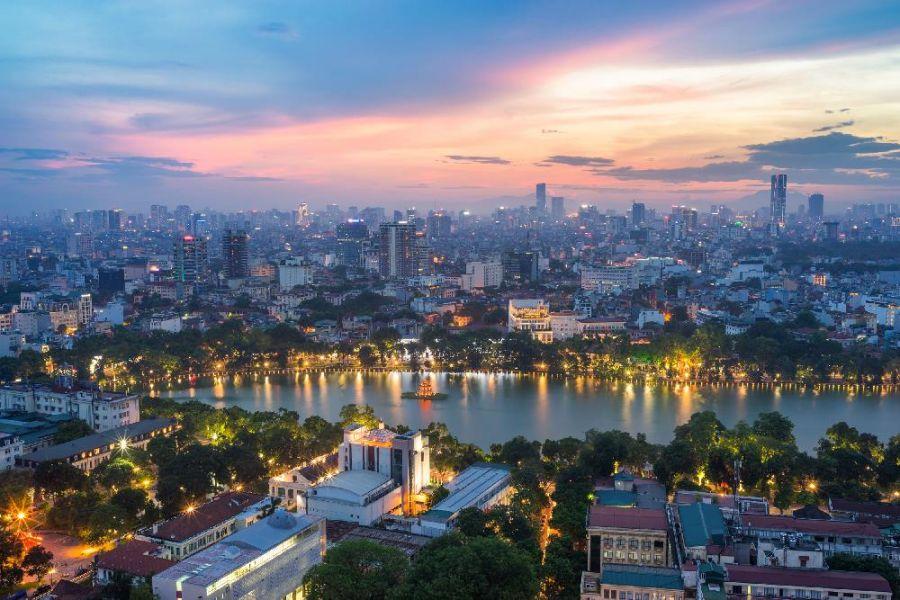 Город Ханой во Вьетнаме