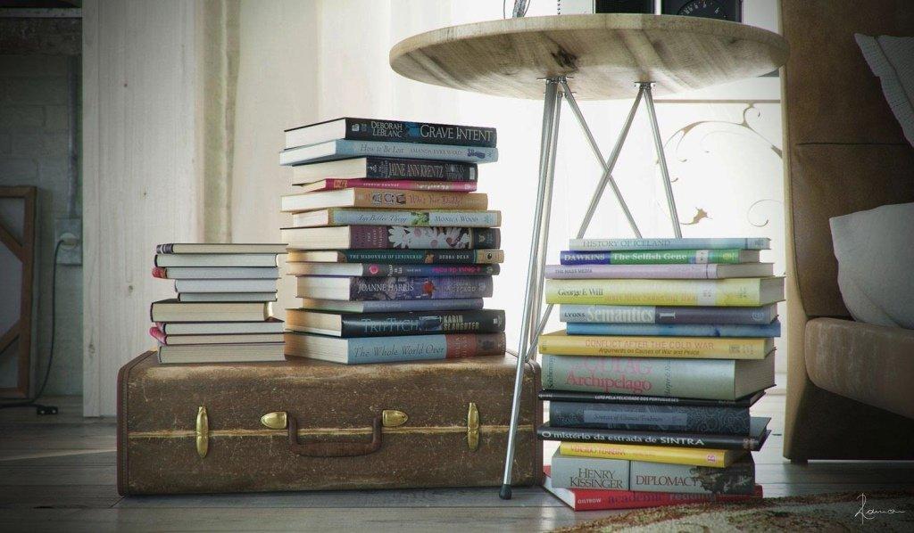 Книги в чемодане